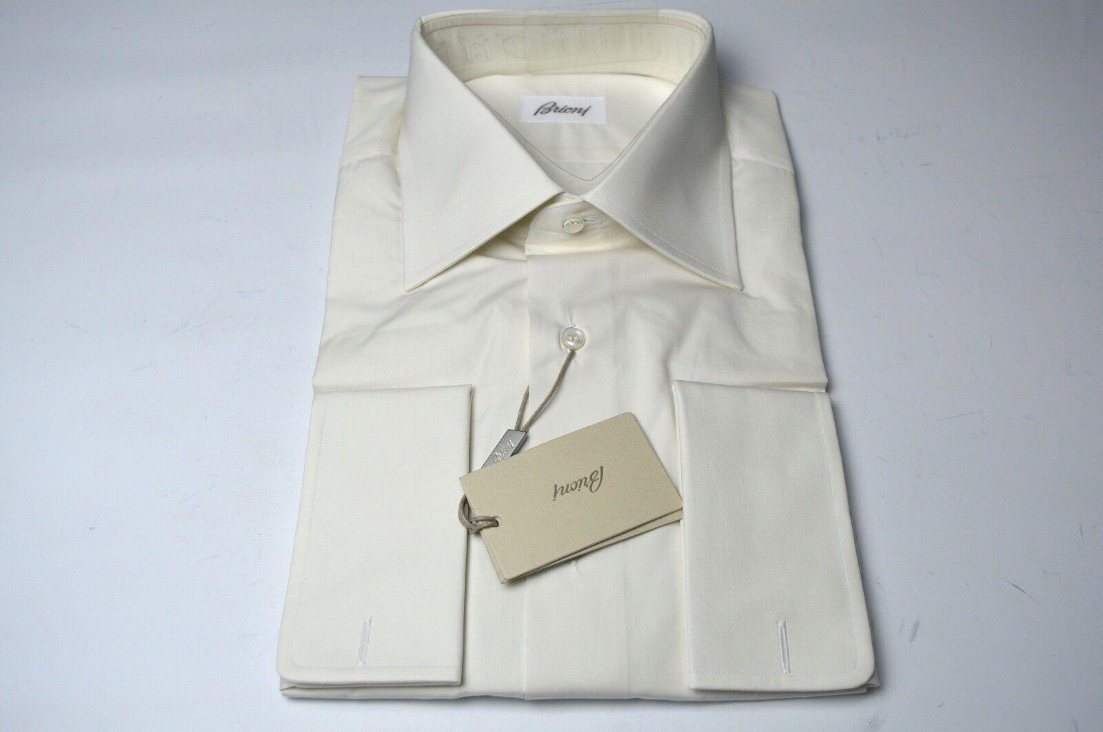 NEW  BRIONI Dress  hemd 100% baumwolle Größe  16.5 Us 42 Eu  (ARA206)