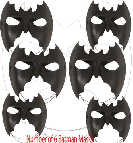 BULK Unisex Donna /& Uomo Batman Domino Masquerade Maschera Occhi Costume LOTTO ODL