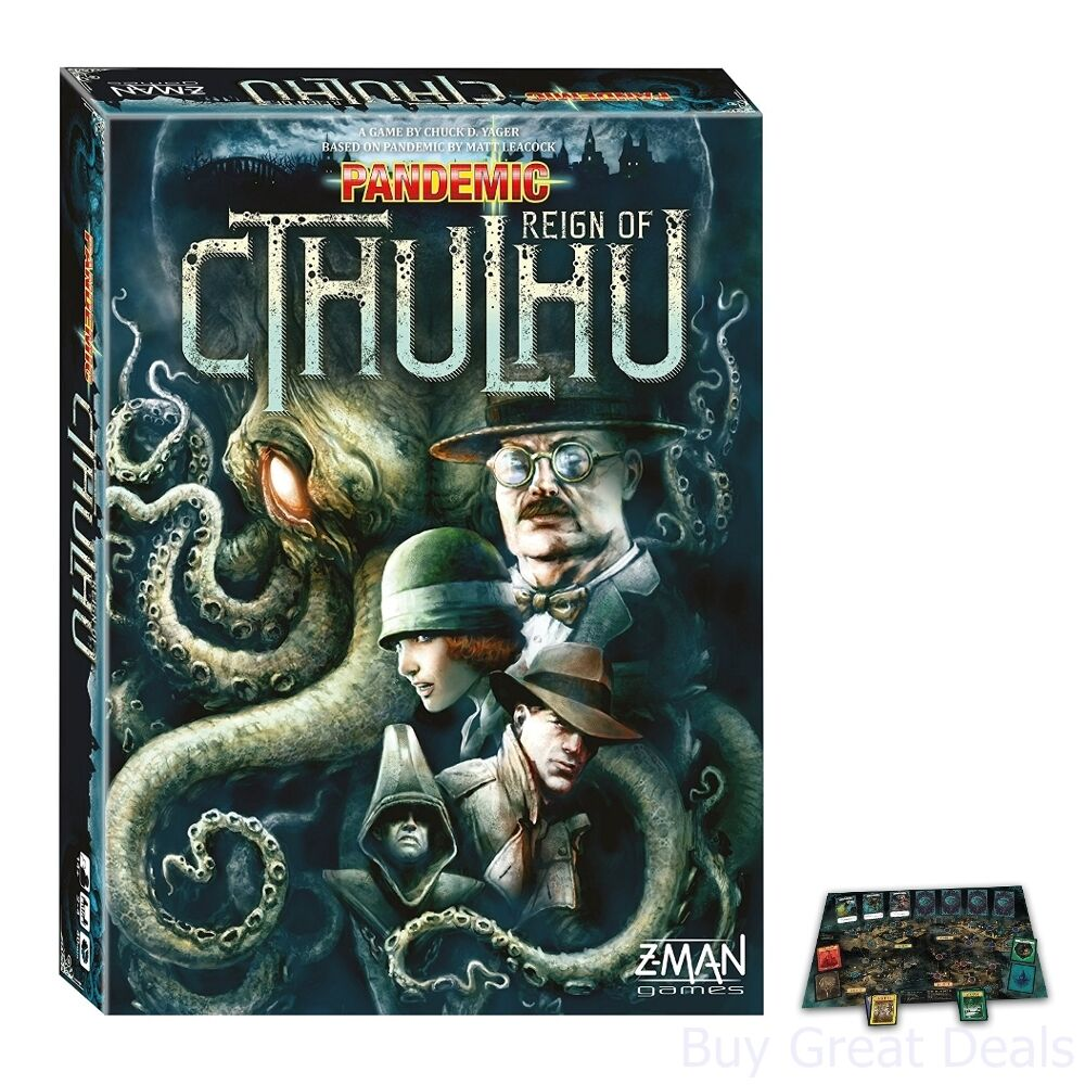 Z-Man Games Pandemic Reign Of Cthulhu Board Game, Kids 2-4 Players Board Game