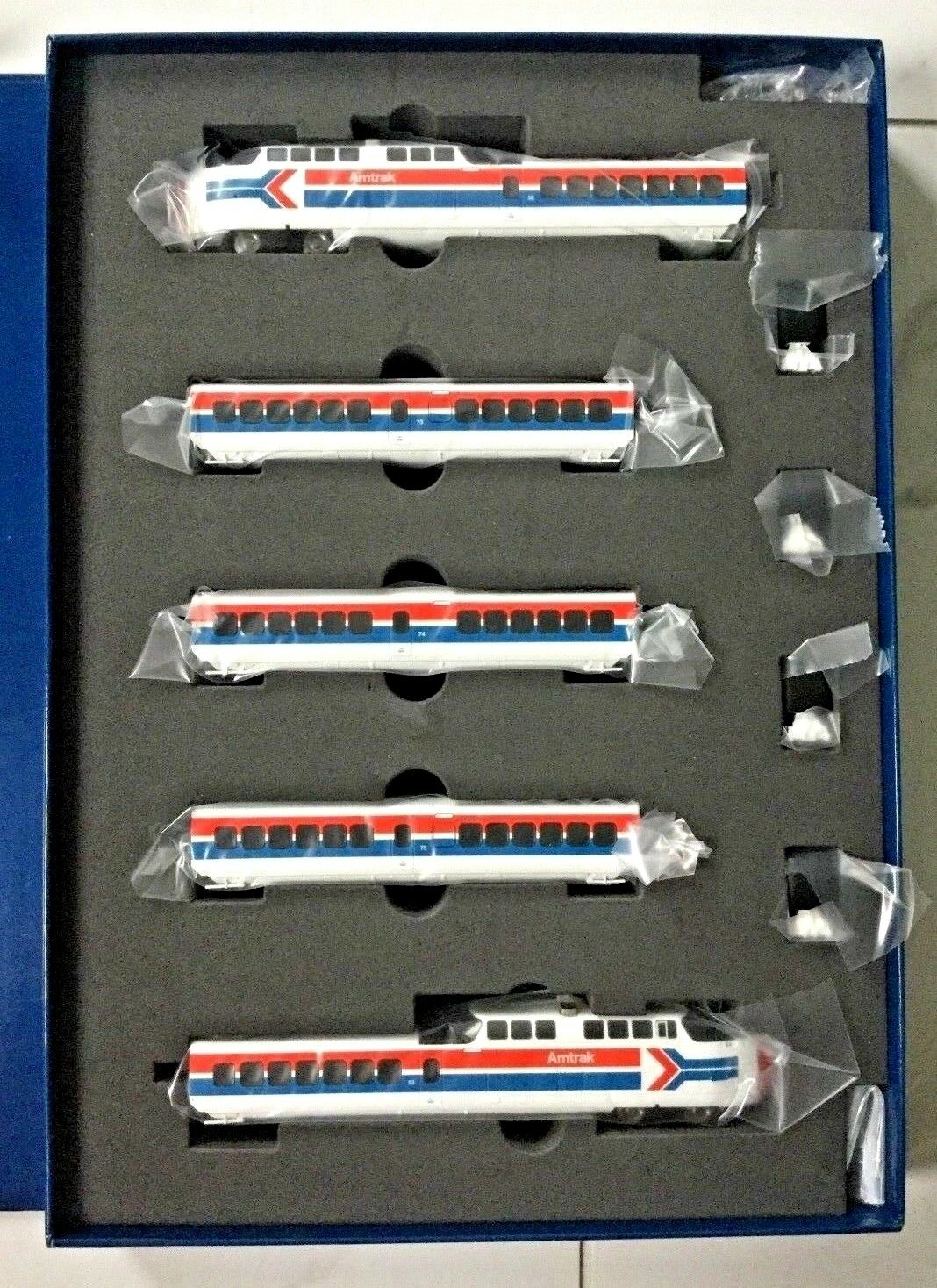 RAPIDO 1 160 N SCALE LATE AMTRAK TURBO TRAIN 5 CAR SET DC DCC SOUND   520504 F S