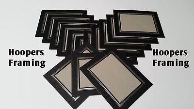 "NERO 6 X 4 /""Photo Mounts Kenro Strut Pack in cartone foto vista titolari"