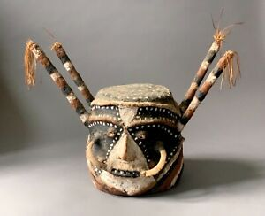 Ancien masque coiffe Île de Malekula Vanuatu art d'océani oceanic art