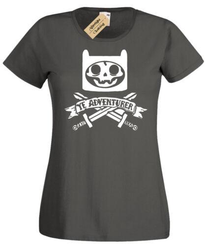 YE ADVENTURER T-Shirt Womens pirate time skeleton adventure skull crossbones