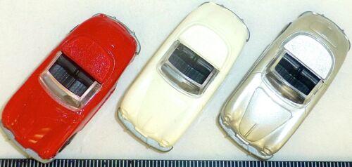 3 x Porsche 356 Cabrio 1x rot 1x silber 1x beige IMU Euromodell 1:87 H0   å GC1