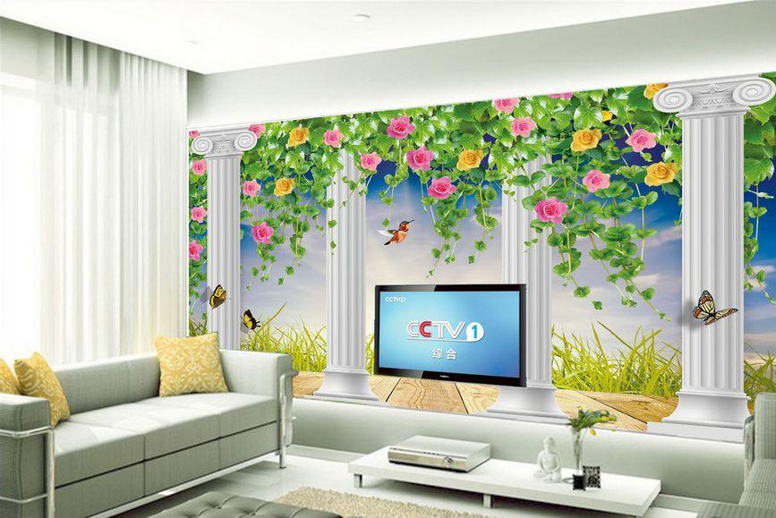 3D Building garden 224 Paper Wall Print Decal Wall Wall Murals AJ WALLPAPER GB