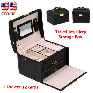 Image Is Loading Portable Travel Jewelry Box Organizer Jewellery Case  Earring
