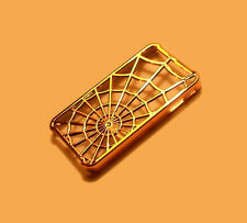 NEW GOLD SPIDER WEB DESIGN APPLE IPHONE 4 4S SMARTPHONE CASE SUPER FAST SHIPPING