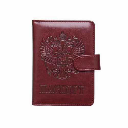 Cute Colors Russia Passport Cover Leather ID Card Holder Protection Case Solid
