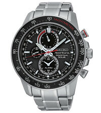 New Seiko SSC357 Sportura Solar Chronograph Stainless Steel 100M Men's Watch