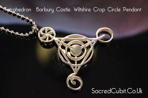 Quarto-Dimensionale-BARBURY-CASTLE-Crop-Circle-sacro-ciondolo-simbolo-geometrico