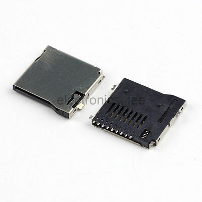 100Pcs Push-Push Type TransFlash TF Micro SD Card Socket  Adapter