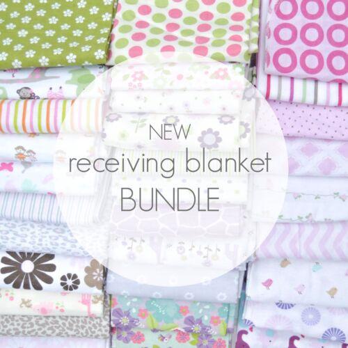 NEW Assorted 8 Piece Baby Girl Receiving Blanket Lot Bundle Carter/'s Gerber