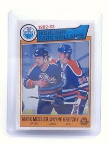 1983-1984-Messier-Gretzky-23-Edmonton-Oilers-OPC-O-Pee-Chee-Hockey-Card-H667