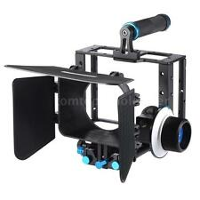 Video Cage Film Movie Making Kit Follow Focus Rig Grip for Camera Camcorder S8R6