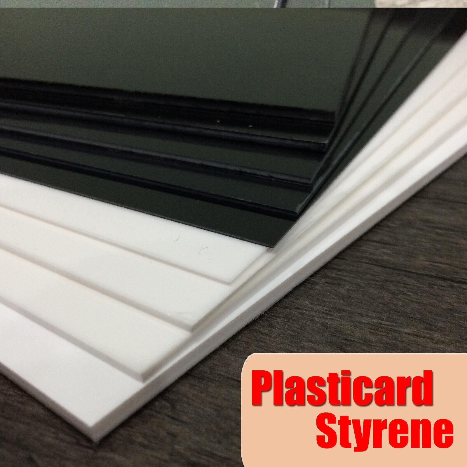 Plasticard Styrene (HIPS) A4 Plastic sheet Black or White - 0.5mm to 4.0mm