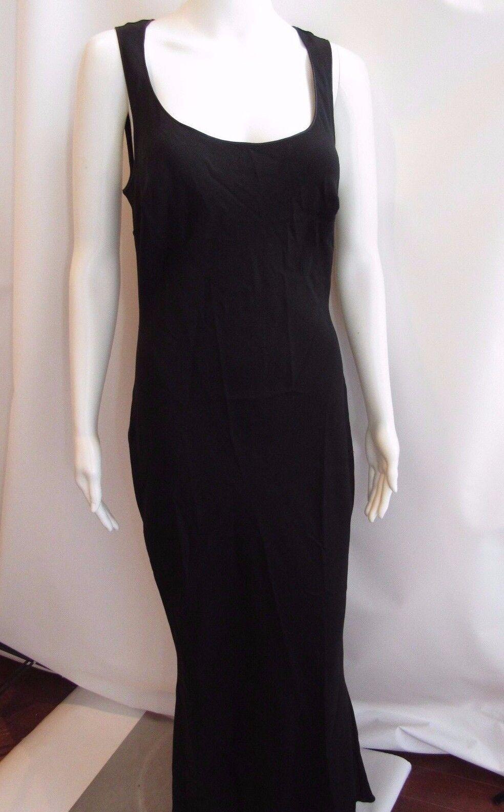 Vestido De Noche JOHN GALLIANO Negro  Sin Mangas Largo Completo Talla 10  últimos estilos