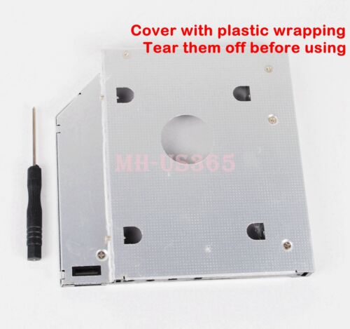2nd Hard Drive HDD Caddy Adapter For Dell Inspiron N5010 N7010 N5110 Optical Bay