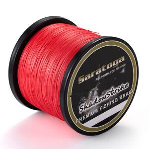 8-Strands-Red-PE-Power-TOP-Dyneema-Braid-Fishing-Line-100M-300M-500M-1000M
