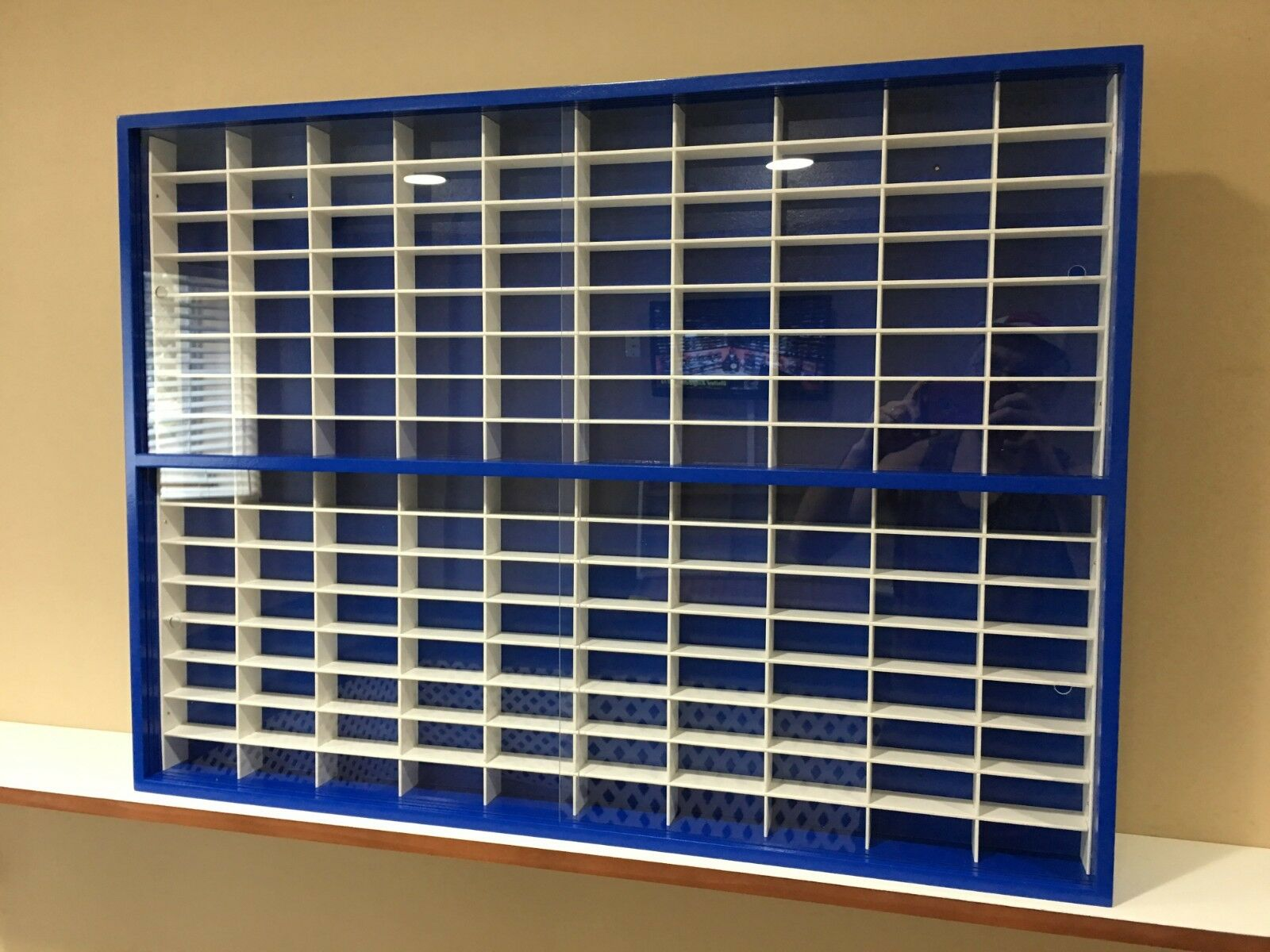 Display case cabinet for for for 1 64 diecast scale cars (hot wheels, matchbox) 160NBW-9 737747
