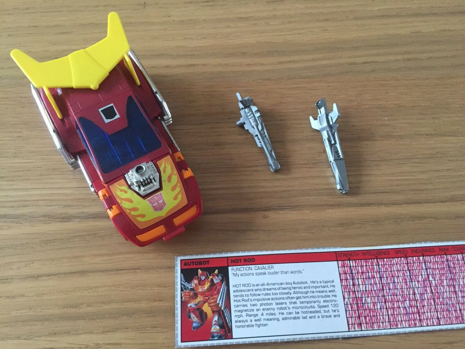 Transformers G1 Hot Rod Autobot action figure