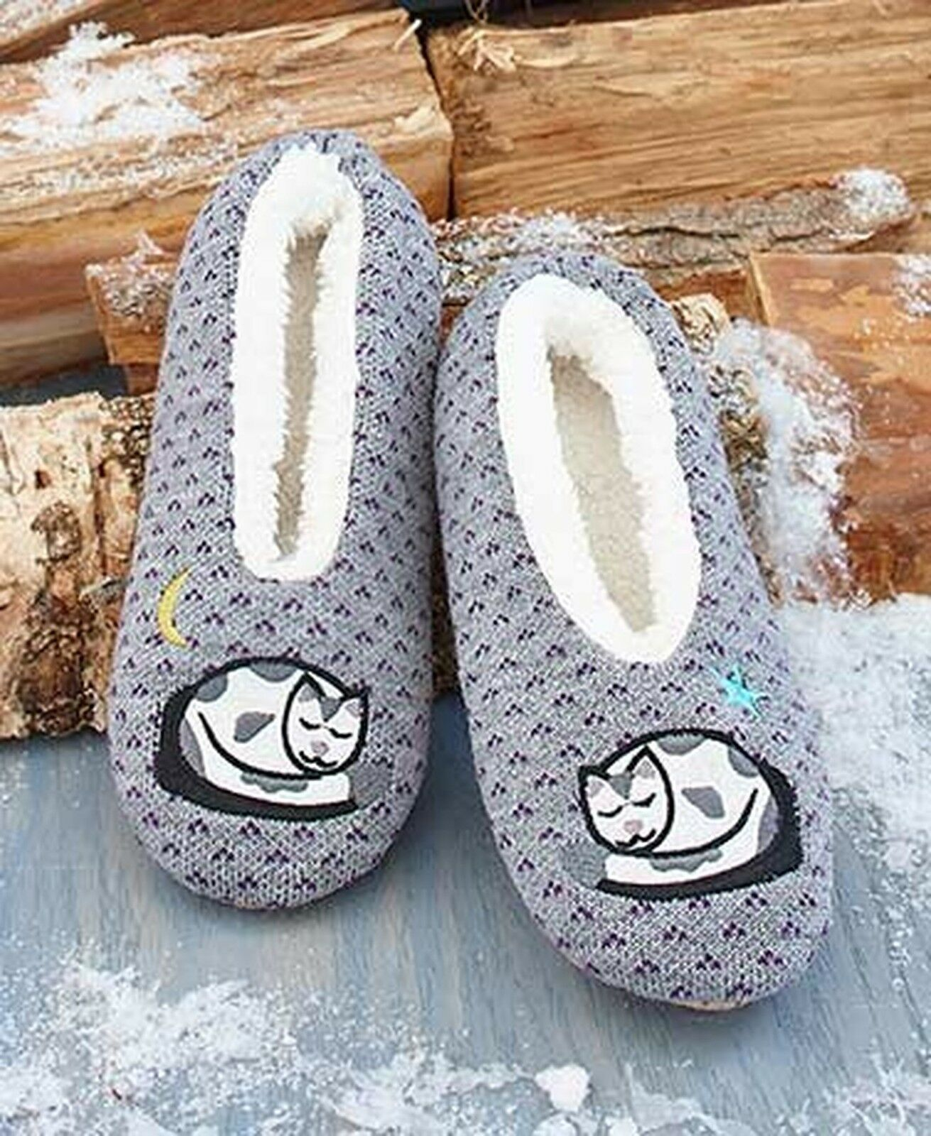 Sherpa-Lined Critter Slippers (Cat S/M 5-8)