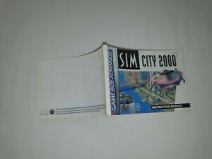 notice pour jeu nintendo gameboy advance SIM CITY 2000