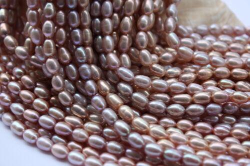 OV18V Zuchtperlen Strang Süßwasser Perle Schmuck Kette Halskette 5mm-6 mm Oval