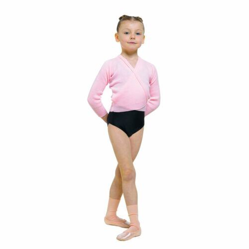 11 COLOURS KNITTED ACRYLIC LONG SLEEVED CROSSOVER BALLET CARDIGAN IN