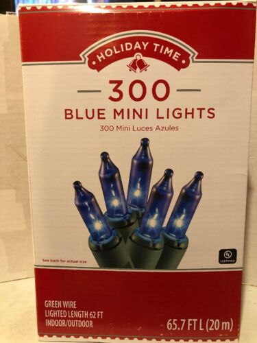 Holiday Time 300 Blue Mini Lights
