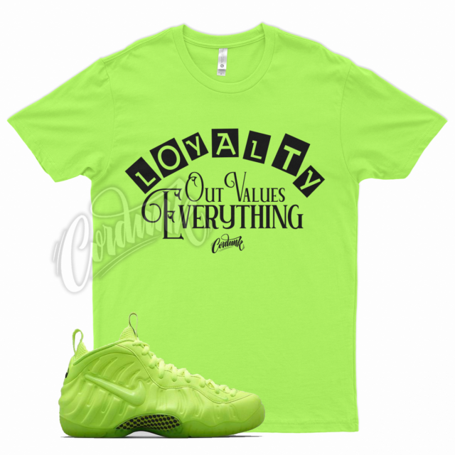 Volt LOYALTY T Shirt for Nike Foamposite Volt Tennis Ball Neon Yellow Green Pro