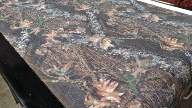 "Mossy Oak Break Up Flock Velvet Sueded Upholstery Camo Fabric BTY 52/"" Wide Soft"