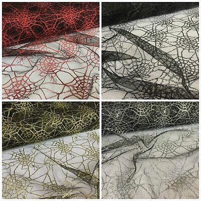 Spiders Web metallic net fabric  (150cm wide) per metre fancy dress per metre