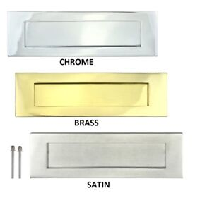 Image is loading LETTER-PLATE-BOX-Door-Letterbox-Wood-Doors-Sprung-  sc 1 st  eBay & LETTER PLATE BOX Door Letterbox Wood Doors Sprung Flap Chrome Brass ...