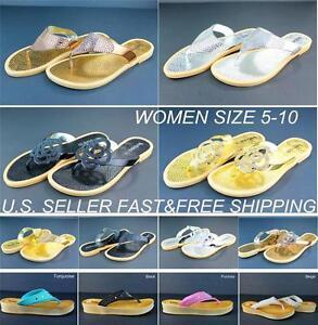 Women-039-s-Flip-Flops-Thong-Slippers-Shoes-Sandals-Flats-Summer-Casual-Beach-Relax