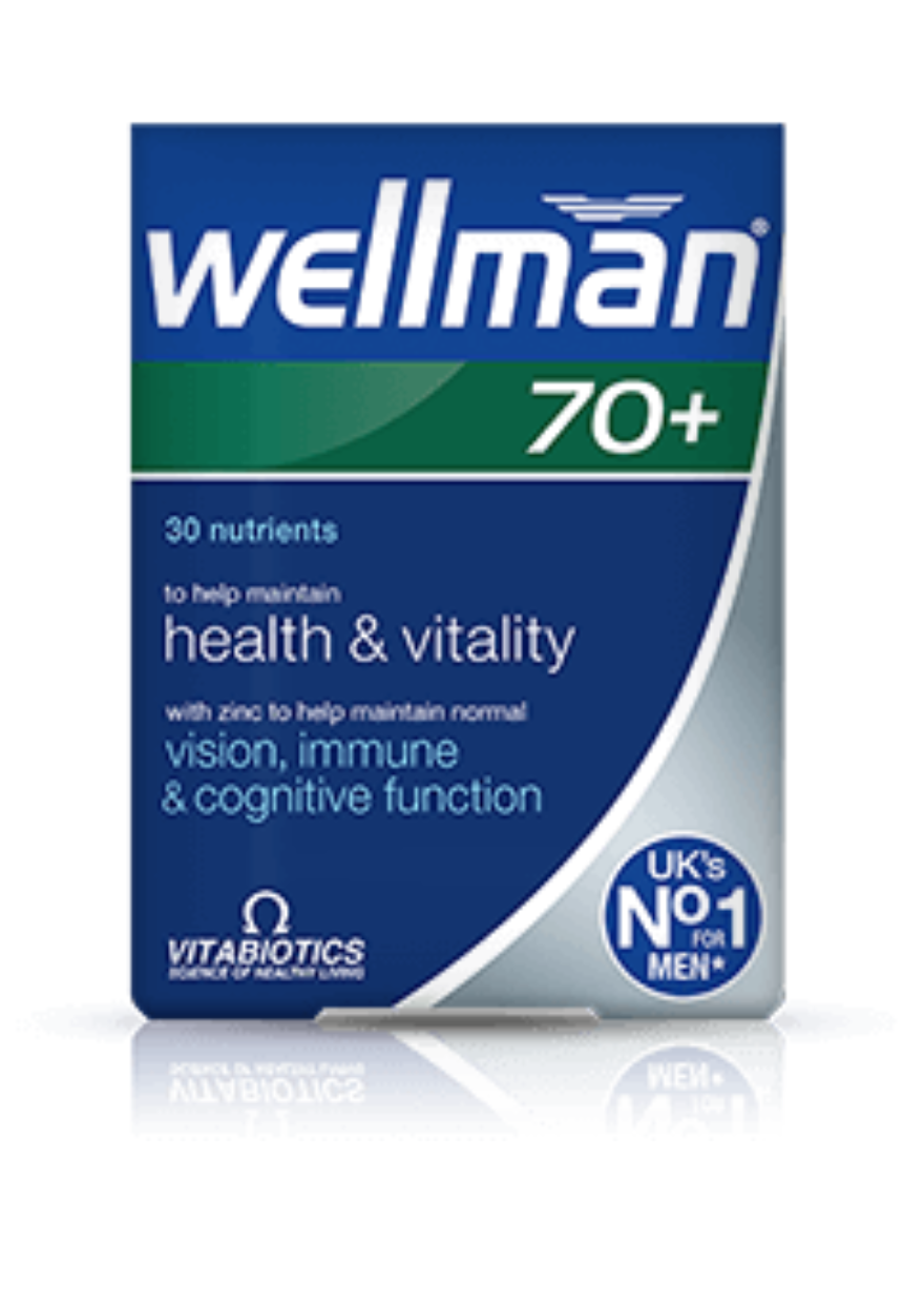Vitabiotics santé Wellman 70+ santé Vitabiotics vitalité Vision & immunitaire Amélioration - 30 onglets 830378