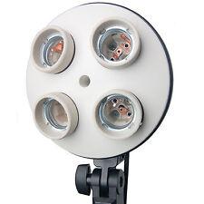 CL4IN1 4 en 1 Sostenedor de adaptador de zócalo E27 con 4 titular de la Bombilla De La Lámpara Iluminación