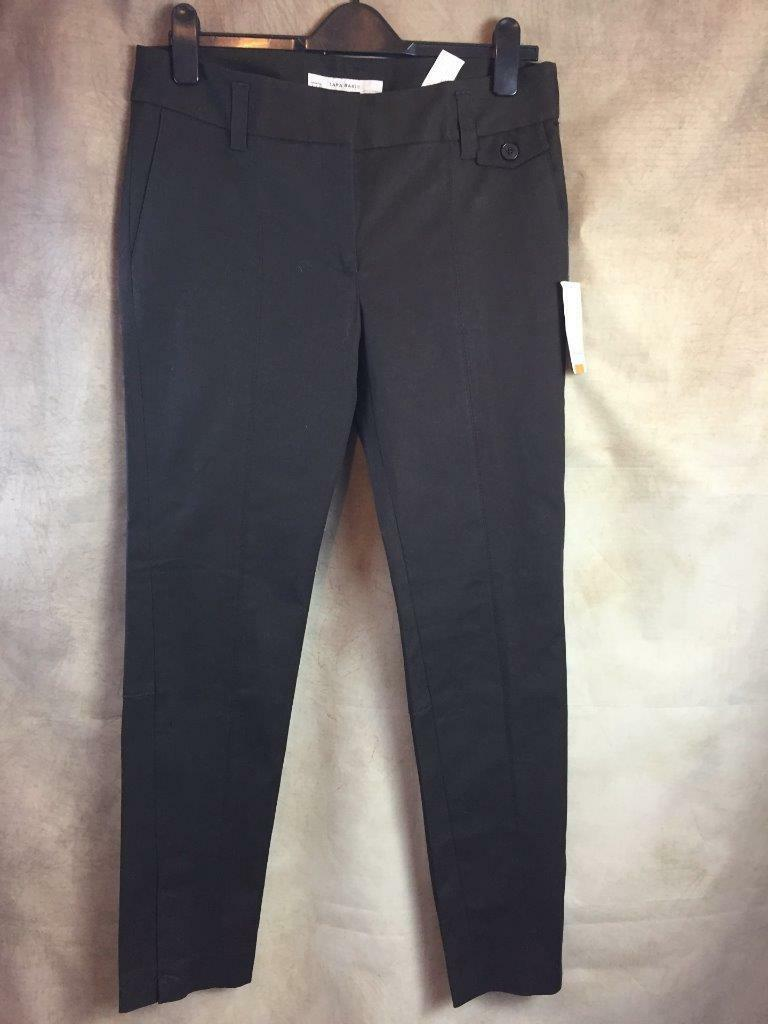 ZARA BROWN COTTON TROUSERS SIZE LARGE B12 REF  2036 249