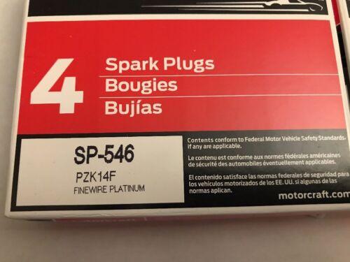 OEM SET OF 8 GENUINE OEM FORD MOTORCRAFT SP-546 SAME SP-515  SPARK PLugs  PZK14F
