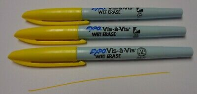Sanford Vis-S-Vis Pens Black Color Fine Point Overhead Projector Box Of 12 New