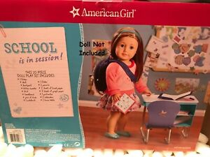 NIB American Girl Truly Me Desk /& School Set Doll Outfit Backpack *20 PIECE*