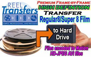 HD Transfer 8mm/Super 8 home movie film to HDD