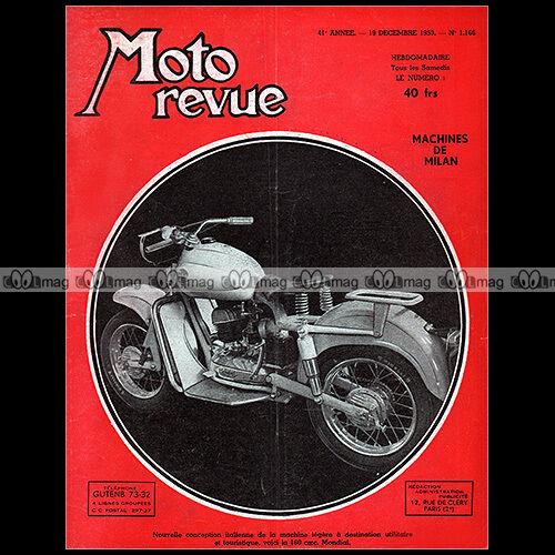 CoöPeratieve Moto Revue N°1166 Nougier 175 4 Cylindres Dot Scramble Mondial 160 Salon 1953