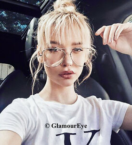 Image Is Loading Oversized Large Xl Aviator Metal Frames Celebrity Fashion