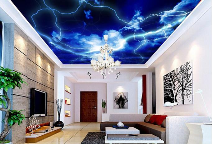 3D Pretty Lightning Sea 894 Wall Paper Wall Print Decal Wall Deco AJ WALLPAPER
