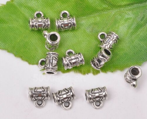 30pcs Tibetan Silver Tone Cup Connectors Bails Jewelry Findings 7MM A0733