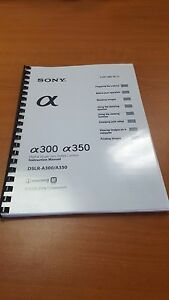 sony slr a300 350 slr camera printed instruction manual user guide rh ebay co uk Sony Alpha Sony A200 Manual
