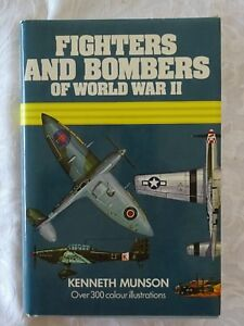 Fighters-And-Bombers-of-World-War-II-1939-45-by-Kenneth-Munson-HC-DJ-Illust