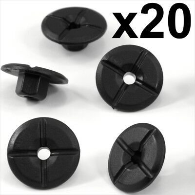 100x Plastic Unthreaded Nylon Nuts 4mm hole /& large 24mm collar Mercedes /& BMW