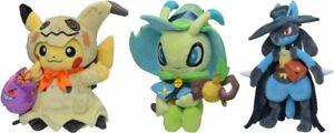 Pokemon-Center-Plush-Doll-Halloween-Festival-2019-Pikachu-amp-Celebi-amp-Lucario