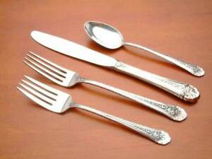 S -FRENCH BLADE FRENCH PROVINCIAL-TOWLE STERLING 4 PC PLACE SETTING